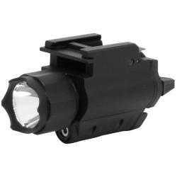 NcSTAR - AQPFLS - NcSTAR 120L Flashlight & Red Laser - QR Mount - 3 W - CR123A - Anodized Aluminum, Nylon