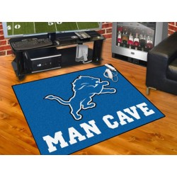Fanmats - 14300 - Detroit Lions Man Cave All-Star Mat 33.75x42.5