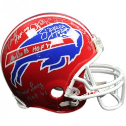 Steiner Sports - BILLHES000005 - Bruce SmithMarv LevyThurman Thomas Jim KellyAndre ReedDarryl Talley Signed Authentic Red Bills Helmet w HOF Inscribed by 5 Guys