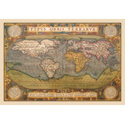 Buyenlarge - 09043-XCG12 - World Map 12x18 Giclee on canvas