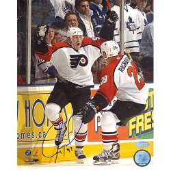 Steiner Sports - ROENPHS008000 - Jeremy Roenick Flyers Game Winning Goal Celebration Vertical 8x10 Photo