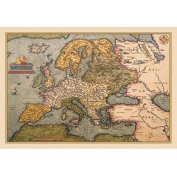 Buyenlarge - 09044-8CG12 - Map of Europe 12x18 Giclee on canvas
