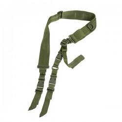 NcSTAR - AARS2PG - NcStar AARS2PG VISM Fully Adjustable Double Point Tactical Sling - Green
