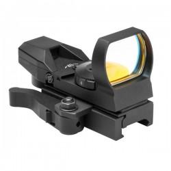 NcSTAR - DX4BQ - NcStar DX4BQ Rogue Quick-Release Red Multi-Reticle Reflex Sight, Black