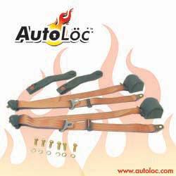 AutoLoc - SB3PRPE - 3 Point Retractable Peach Seat Belt 1 Belt