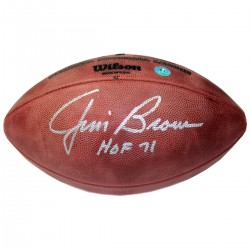 Steiner Sports - BROWFOS000002 - Jim Brown Signed NFL Wilson Game Model Football - Cleveland Browns w HOF 71 Insc (AJ Sports Auth)
