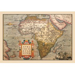 Buyenlarge - 09046-4CG12 - Map of Africa 12x18 Giclee on canvas