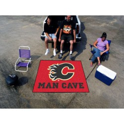 Fanmats - 14404 - Calgary Flames Man Cave Tailgater Rug 5x6