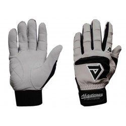Akadema - BGG466-M(BLACK) - Akadema Grey/Black Professional Batting Gloves Medium