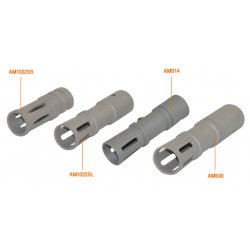 NcSTAR - AM1022SL - NcStar Rugger 1022 Long Muzzle Brake Silver