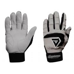 Akadema - BGG466-S(BLACK) - Akadema Grey/Black Professional Batting Gloves Small