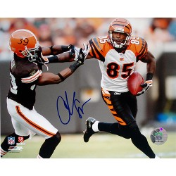Steiner Sports - JOHNPHS008086 - Chad Johnson Stiff Arm 8x10 Photo