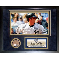 Steiner Sports - 200911952210020 - Jorge Posada 2009 Yankees Mini Dirt Collage