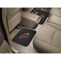 Fanmats - 12349 - NFL - Arizona Cardinals Backseat Utility Mats 2 Pack 14x17