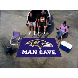 Fanmats - 14270 - Baltimore Ravens Man Cave UltiMat Rug 5x8