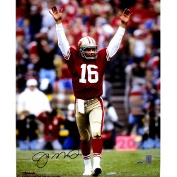 Steiner Sports - MONTPHS016026 - Joe Montana Touchdown Signal Signed 16x20 Photo Signed In Black