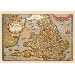 Buyenlarge - 09053-7CG12 - Map of England 12x18 Giclee on canvas