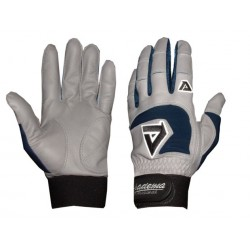 Akadema - BGG416-L(NAVY) - Akadema Grey/Navy Professional Batting Gloves Large