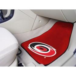 Fanmats - 10529 - Carolina Hurricanes 2-pc Printed Carpet Car Mats 17x27