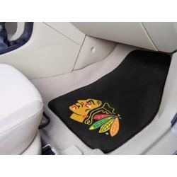 Fanmats - 10338 - Chicago Blackhawks 2-pc Printed Carpet Car Mats 17x27