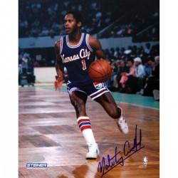 Steiner Sports - ARCHPHS016004 - Nate Archibald Kansas City Kings Against Boston Celtics Signed 16X20 w HOF 91Insc.