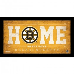 Steiner Sports - BRUIPHA006003 - Boston Bruins 6x12 Home Sweet Home Sign
