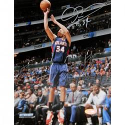 Steiner Sports - HARRPHS008001 - Devin Harris Atlanta Hawks Three Point Shot in Blue Jersey Signed 8x10 Photo