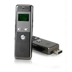 Mini Gadgets - VR-166 - Mini Gadgets VR166 Voice Recorder - 2 GB Flash Memory - 283 HourspeaceRecording Time - Portable