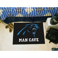 Fanmats - 14277 - Carolina Panthers Man Cave Starter Rug 19x30