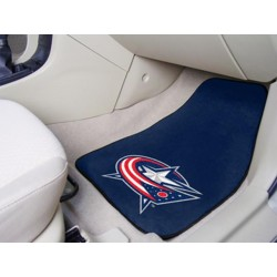 Fanmats - 10573 - Columbus Blue Jackets 2-pc Printed Carpet Car Mats 17x27