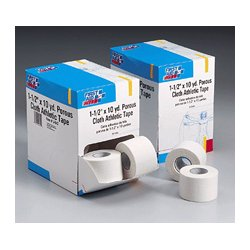 First Aid Only - J642AC - Athletic First Aid Tape (Unitized Refill), Porous Cloth, 1 1/2 x 10 yd, 16 Rolls/Box