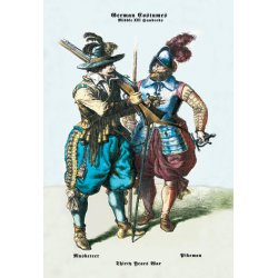 Buyenlarge - 02267-1G24X36 - German Costumes: Thirty Years War: Musketeer 24x36 Giclee