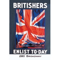 Buyenlarge - 07754-9CG28 - Britishers: Enlist To-Day 28x42 Giclee on Canvas