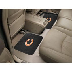 Fanmats - 12303 - Chicago Bears Backseat Utility Mats 2 Pack 14x17