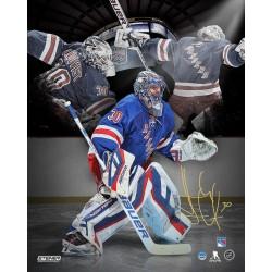 Steiner Sports - LUNDPHS016031 - Henrik Lundqvist Signed New York Rangers Three Image Montage 16x20 Photo