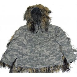GhillieSuits - PP-NMCS-M-XL/XXL - Ultra-Light Weight Sniper Jacket and Pants Mossy XL/XXL