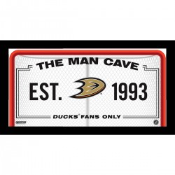 Steiner Sports - DUCKPHA010000 - Anaheim Ducks Man Cave Sign 10x20 Framed Photo