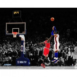 Steiner Sports - ANTHPHU016032 - Carmelo Anthony Shooting Against Bulls 16x20 Photo Uns