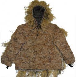 GhillieSuits - PP-NMCS-D-M/L - Ultra-Light Weight Sniper Jacket and Pants Desert M/L