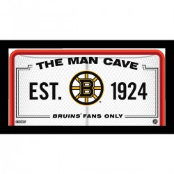 Steiner Sports - BRUIPHA006000 - Boston Bruins Man Cave Sign 6x12 Framed Photo