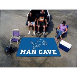 Fanmats - 14302 - Detroit Lions Man Cave UltiMat Rug 5x8