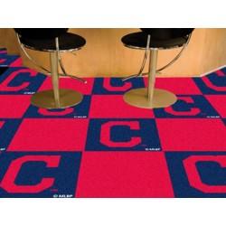 Fanmats - 16914 - Cleveland Indians Block-C Carpet Tiles 18x18 tiles