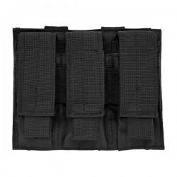 NcSTAR - CVP3P2932B - NcStar CVP3P2932B 5-1/2-Inch VISM Triple Pistol Magazine PALS Pouch, Black