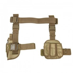 NcSTAR - CV2908T - NcStar CV2908T 3-Piece Universal Right Handed Drop Leg Gun Holster, Tan