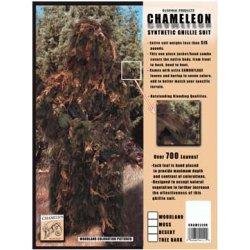 Bushrag - Ch-74wd Xl/xxl - Chameleon Ghillie Long Jacket Woodland Xl/xxl