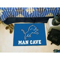 Fanmats - 14301 - Detroit Lions Man Cave Starter Rug 19x30
