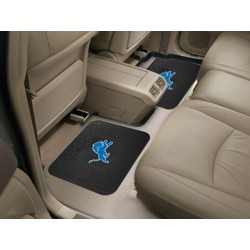 Fanmats - 12355 - Detroit Lions Backseat Utility Mats 2 Pack 14x17