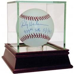 Steiner Sports - HENDBAS000036 - Rickey Henderson Signed MLB Baseball w/ 939th SB 5/1/91 Insc