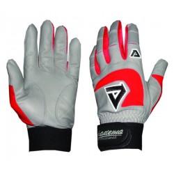 Akadema - BGG406-XS(RED) - Akadema Grey/Red Professional Batting Gloves XS