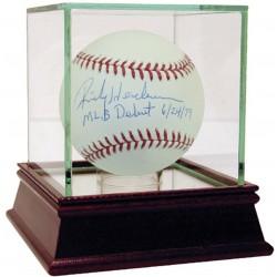Steiner Sports - HENDBAS000037 - Rickey Henderson Signed MLB Baseball w/ MLB Debut 6/24/79 Insc